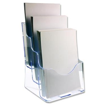 CONCEPT A4 LITERATURE HOLDER - THREE TIER