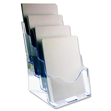 Concept A4 Literature Holder - Four Tier