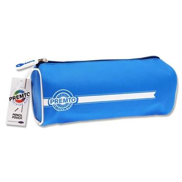 PREMTO RECTANGULAR PENCIL POUCH - PRINTER BLUE