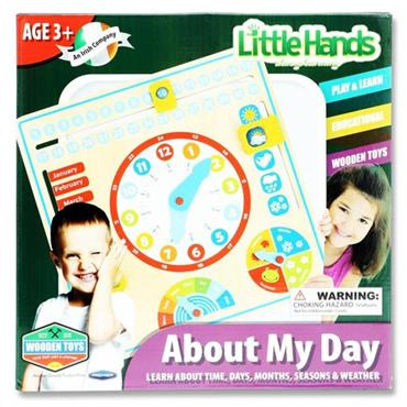 LITTLE HANDS WOODEN EDUCATION TOY - ABOUT MY DAY