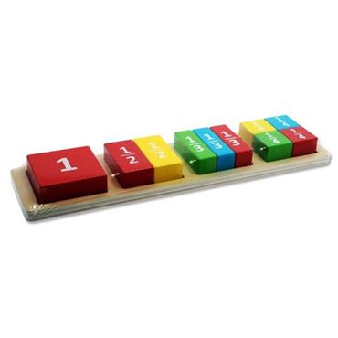 LITTLE HANDS WOODEN EDUCATION TOY - MATHS BLOCK