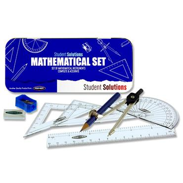 Student Solutions 9pce Maths Set - Blue