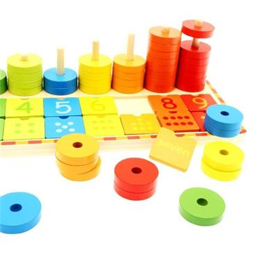 LITTLE HANDS WOODEN EDUCATION TOY - NUMBER STACK