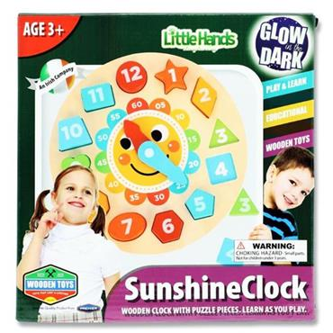 LITTLE HANDS WOODEN EDUCATION TOY - SUNSHINE CLOCK