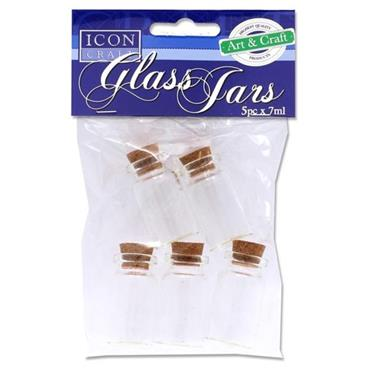 ICON CRAFT PKT.5 7ml GLASS JARS