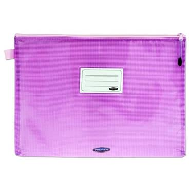 PREMTO PASTEL A4+ EXTRA DURABLE EXPANDING MESH WALLET - WILD ORCHID