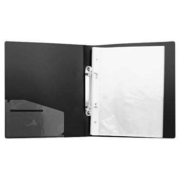 CONCEPT GREEN A5 ECO PRESENTATION RING BINDER W/12 PUNCHED POCKETS