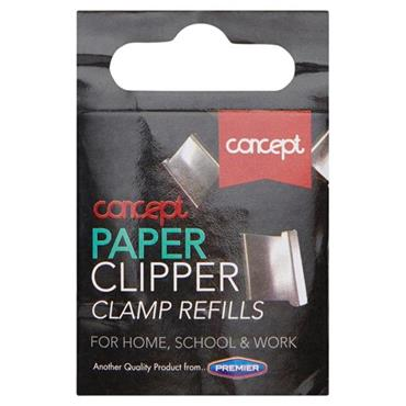 CONCEPT 18mm PAPER CLIPPER CLAMP REFILLS