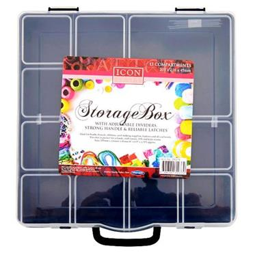 ICON CRAFT 13 COMPARTMENT STORAGE BOX 2 ASST