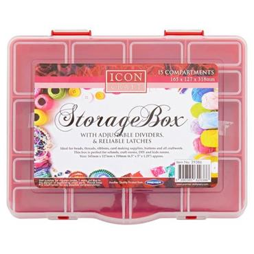 ICON CRAFT 15 COMPARTMENT STORAGE BOX 2 ASST