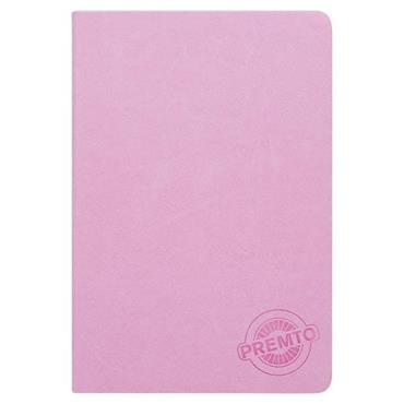 PREMTO PASTEL A5 192pg HARDCOVER PU NOTEBOOK - WILD ORCHID
