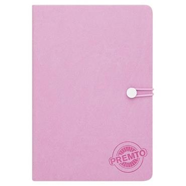 PREMTO PASTEL A5 192pg HARDCOVER PU NOTEBOOK W/ELASTIC - WILD ORCHID