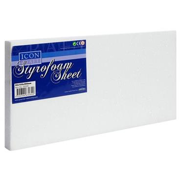 ICON CRAFT STYROFOAM SHEET SIZE 1X6X12 inch