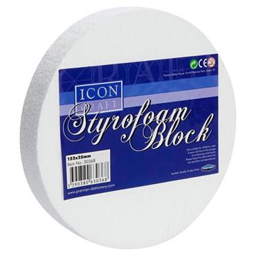 ICON CRAFT STYROFOAM ROUND BLOCK SIZE 6X1 inch