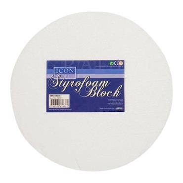 ICON CRAFT STYROFOAM ROUND BLOCK SIZE 10X1 inch