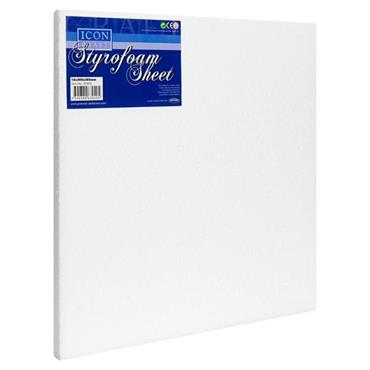 ICON CRAFT STYROFOAM SHEET SIZE 0.63X12X12 inch