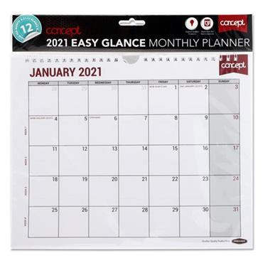CONCEPT 2021 EASY GLANCE MONTHLY PLANNER