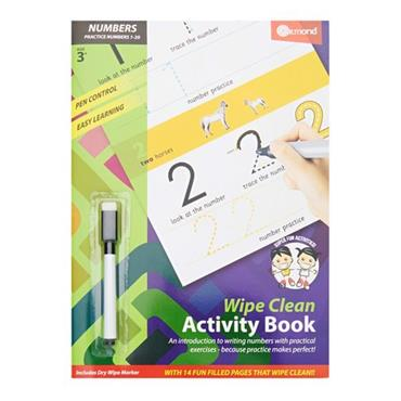 ORMOND A4 WIPE CLEAN LEARNING BOOK WITH PEN - NUMBER