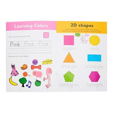 ORMOND A4 WIPE CLEAN LEARNING BOOK WITH PEN - COLORS AND SHAPE