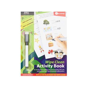 ORMOND A5 WIPE CLEAN LEARNING BOOK WITH PEN - SPELL