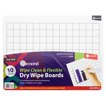 ORMOND DRY ERASE BOARDS SET OF 10 - 2CM GRID