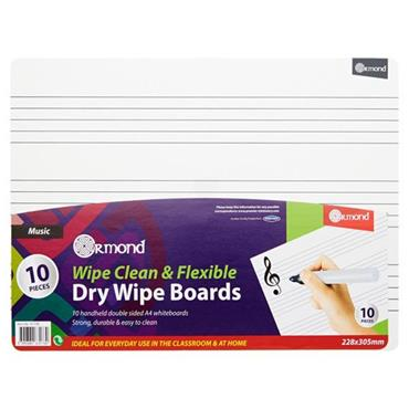 ORMOND DRY ERASE BOARDS SET OF 10 - MUSIC