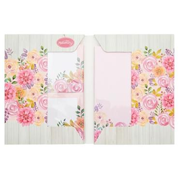 I LOVE STATIONERY A5 WRITING SET AND ENVELOPES - PINK FESTIVE FLOWERS