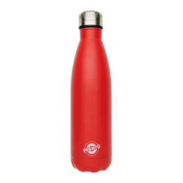 PREMTO STAINLESS STEEL WATER BOTTLE 500ml - KETCHUP RED