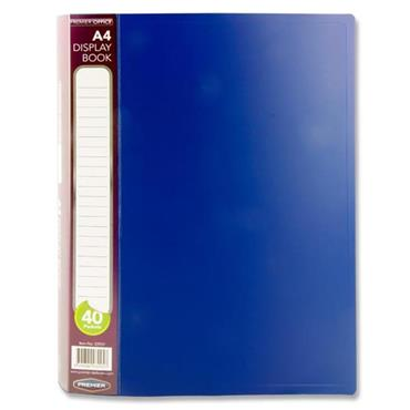 PREMIER OFFICE A4 40 POCKET DISPLAY BOOK