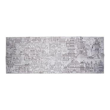 WOC JUMBO 40cm x 1m COLOURING-IN POSTER - BIG CITY