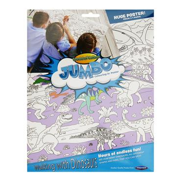WOC JUMBO 40cm x 1m COLOURING-IN POSTER - DINOSAURS