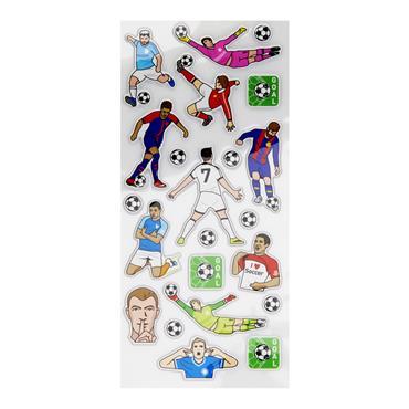 EMOTIONERY CARD 23 PUFFY STICKERS - FOOTBALL