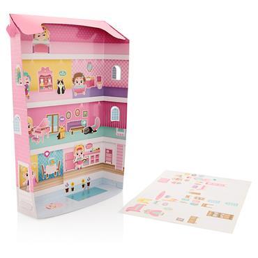 CRAFTY BITZ 3D BUILD & PLAY STICKER PACK - DOLL HOUSE