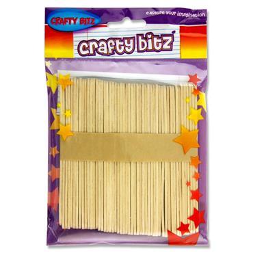 Crafty Bitz Pkt.50 Natural Lollipop Sticks