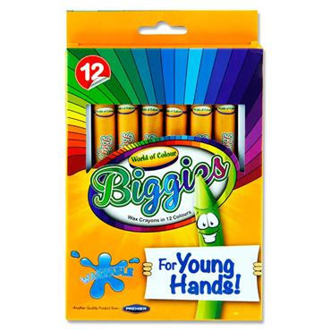 WOC BOX 12 YOUNG HANDS BIG CRAYONS