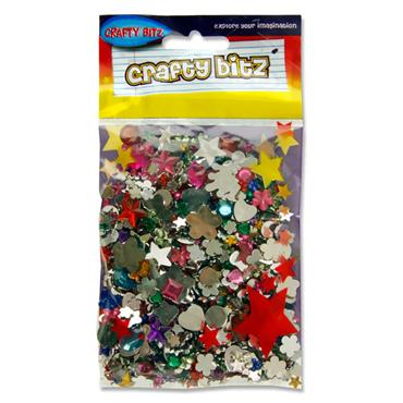Crafty Bitz Asst Plastic Jewels