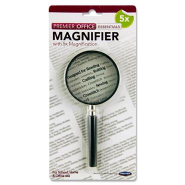 Premier Office 5x 75mm Magnifying Glass