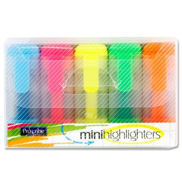 Pro:scribe Box 5 Mini Highlighters