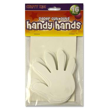 CRAFTY BITZ PKT.16 CUTOUTS - HANDS