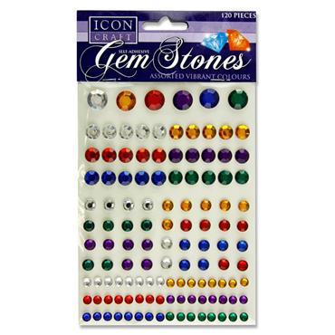 Icon Craft Pkt.120 Self Adhesive Gem Stones - Dark
