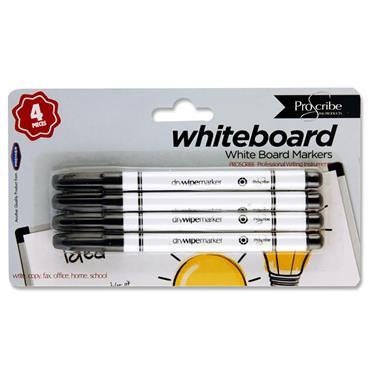 Pro:scribe Card 4 Whiteboard Marker Pens