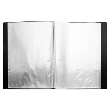 PREMIER OFFICE A4 40 POCKET PRESENTATION DISPLAY BOOK - BLACK