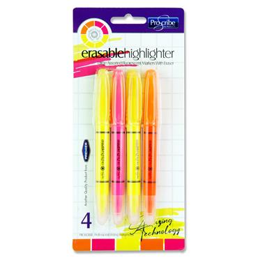 Pro:scribe Card 4 Erasable Highlighter Markers