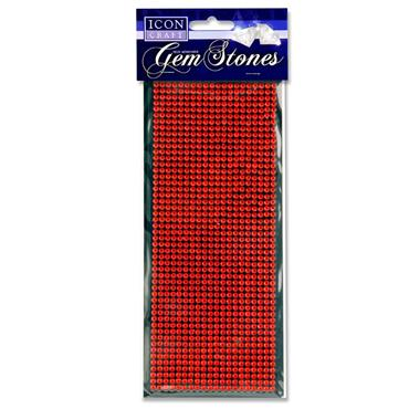 Icon Craft Card 1000 Self Adhesive Gem Stones - Red