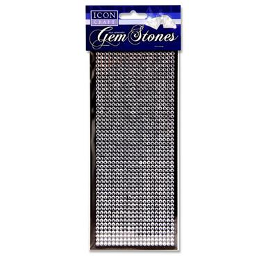 Icon Craft Card 1000 Self Adhesive Gem Stones - White