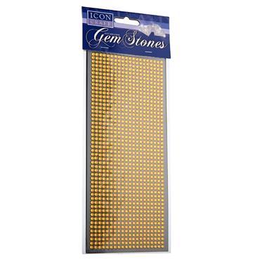 Icon Craft Card 1000 Self Adhesive Gem Stones - Gold