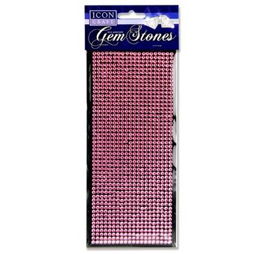 Icon Craft Card 1000 Self Adhesive Gem Stones - Pink