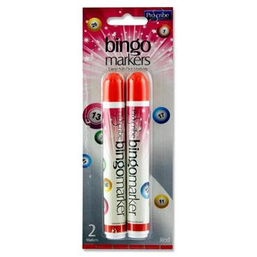 Pro:scribe Card 2 Bingo Markers - Red