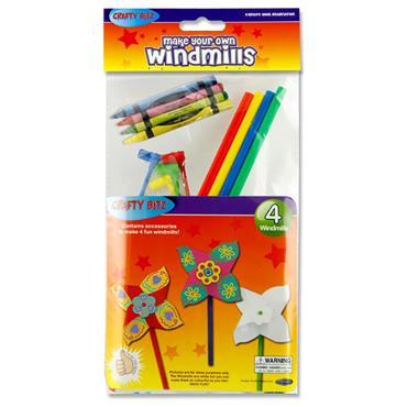Crafty Bitz Pkt.4 Make Your Own Windmills