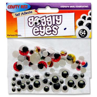 Crafty Bitz Pkt.64 Asst Goggly Eyes